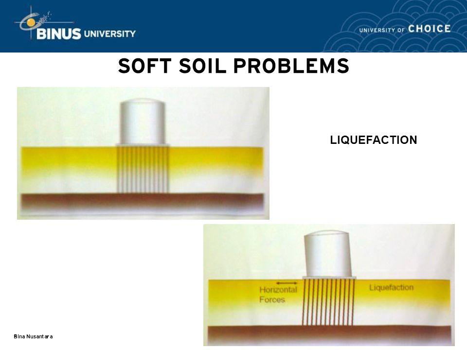 SOFT SOIL PROBLEMS LIQUEFACTION Bina Nusantara