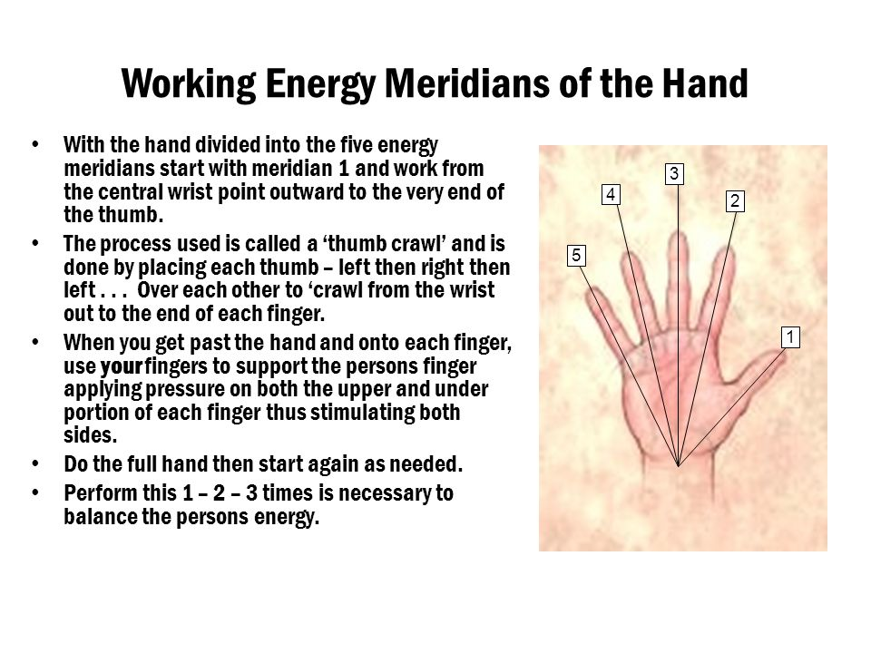 Working Energy Meridians of the Hand