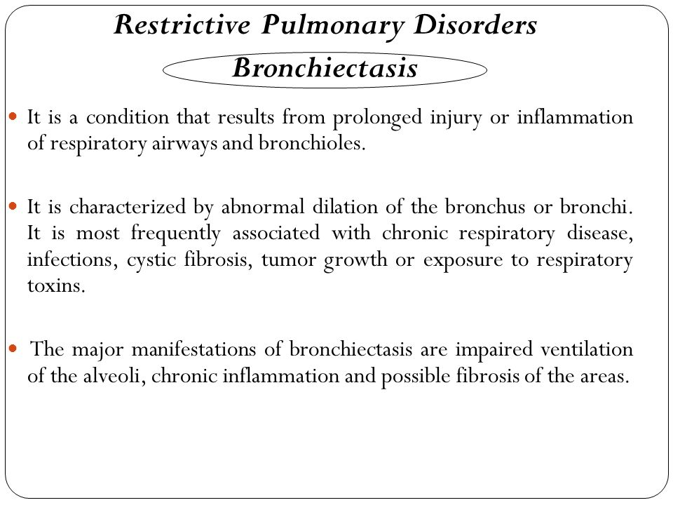 Restrictive Pulmonary Disorders