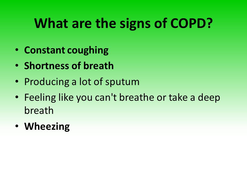 What are the signs of COPD