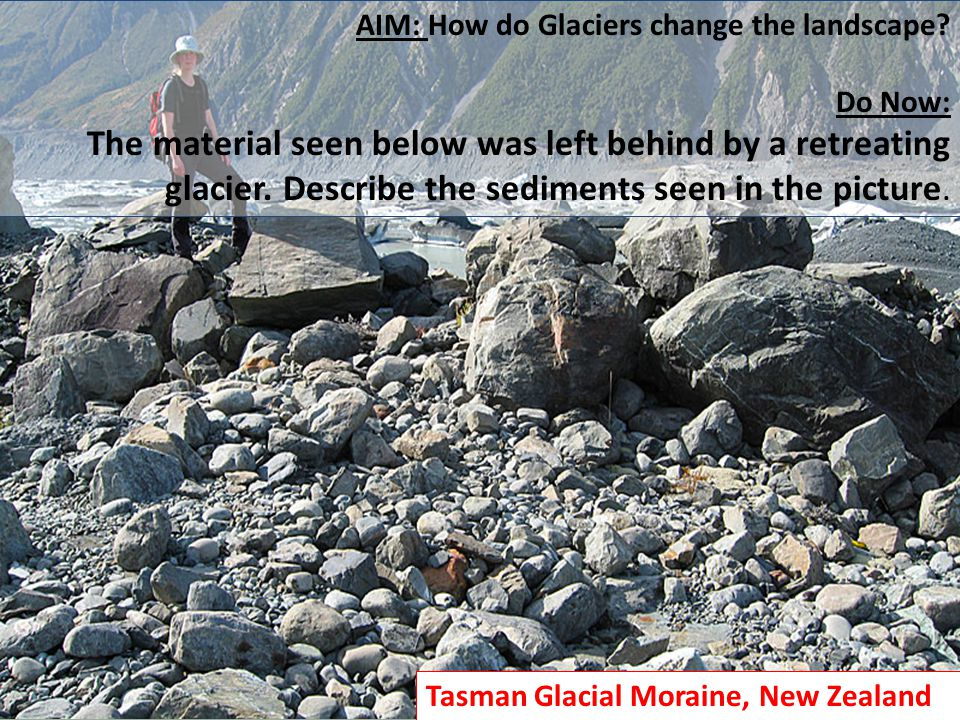 AIM: How do Glaciers change the landscape