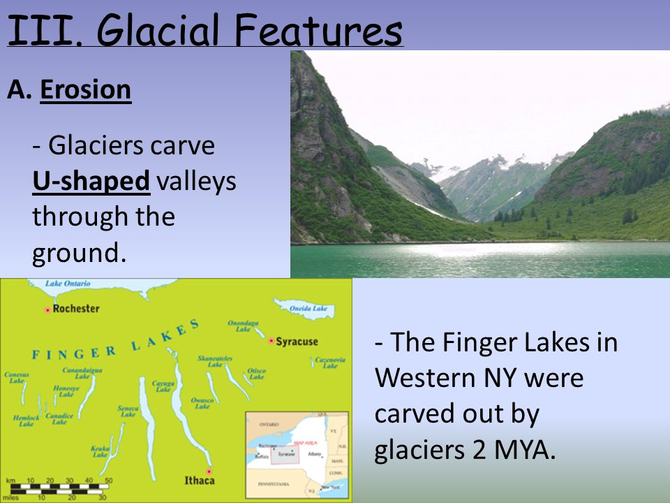 III. Glacial Features Erosion