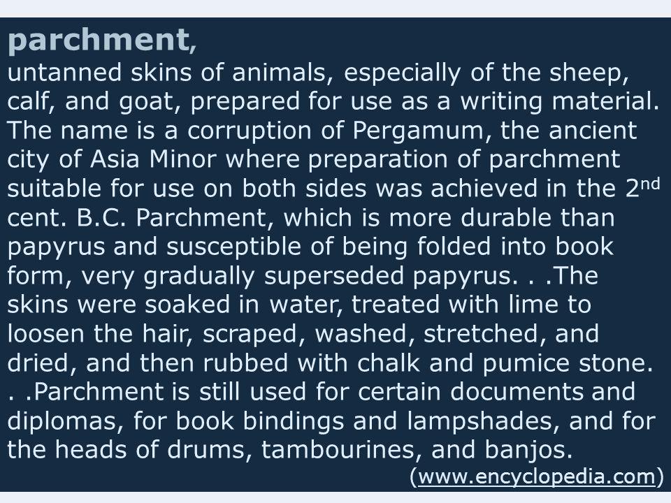 parchment,