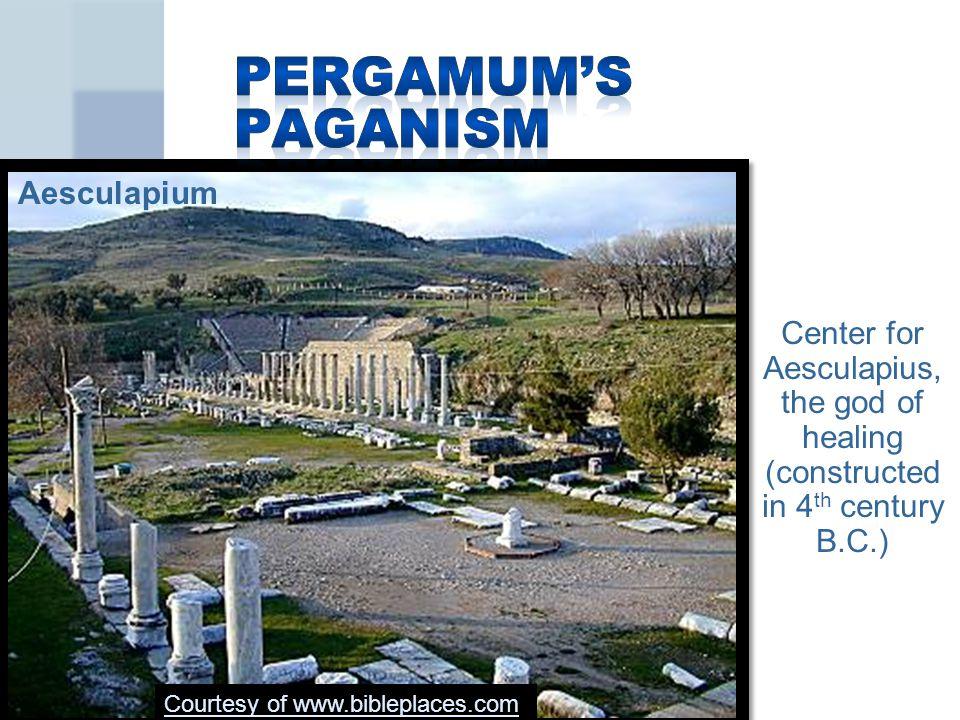 Pergamum's Paganism Aesculapium