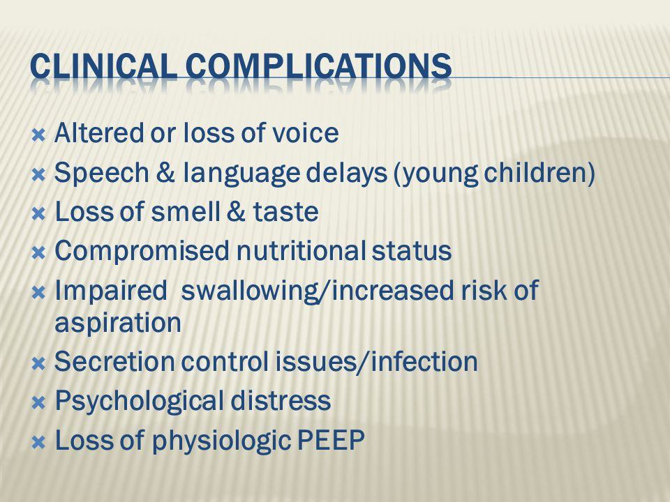 Clinical Complications