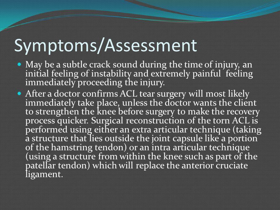 Symptoms/Assessment