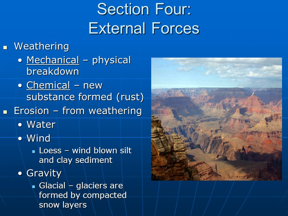 Section Four: External Forces