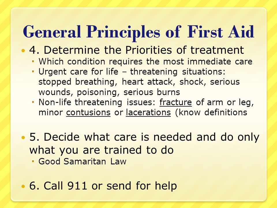 General Principles of First Aid
