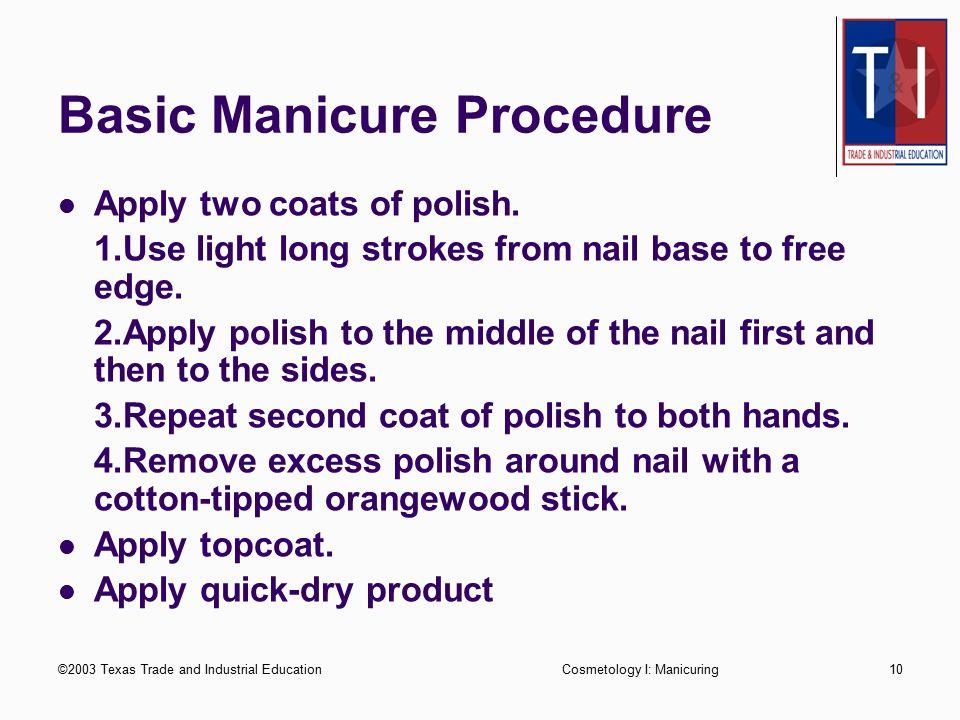 Basic Manicure Procedure