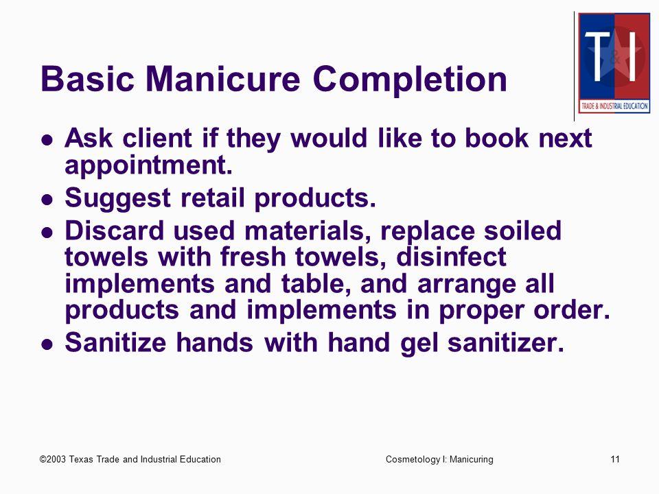 Basic Manicure Completion