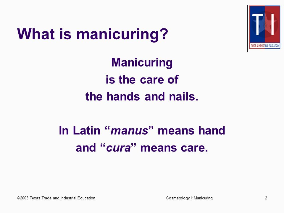 In Latin manus means hand