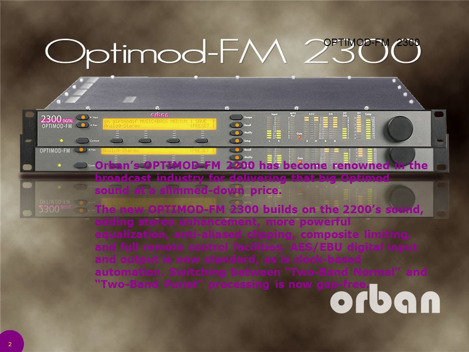 4/14/2017 12:28 AM OPTIMOD-FM 2300.