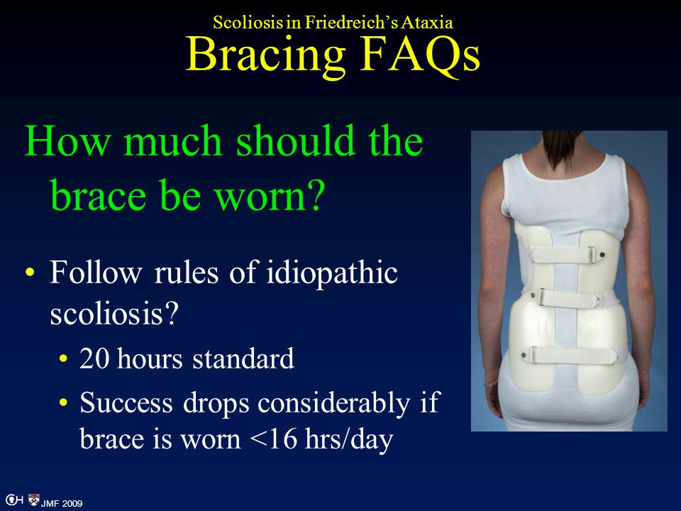 Scoliosis in Friedreich's Ataxia Bracing FAQs