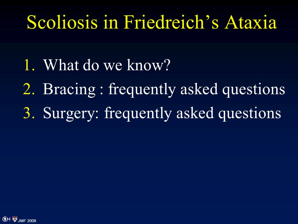 Scoliosis in Friedreich's Ataxia