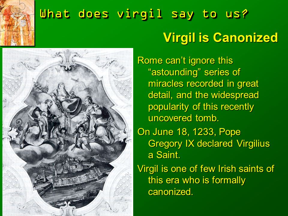 Virgil is Canonized