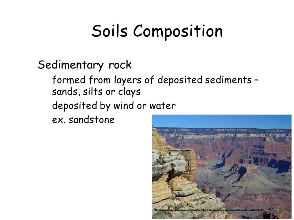 Soils Composition Sedimentary rock