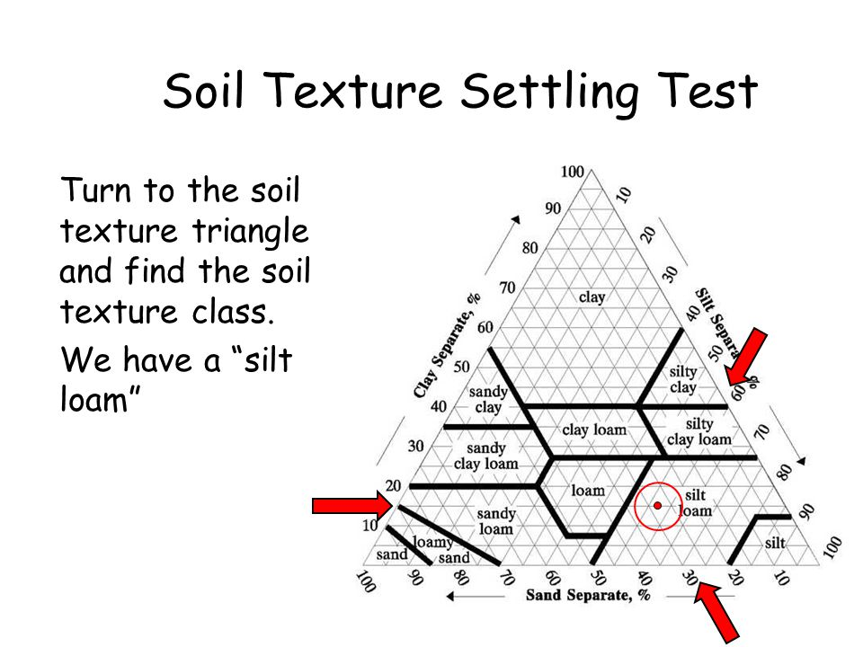 Soil Texture Settling Test