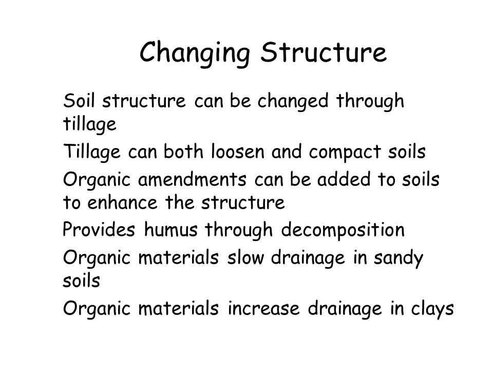 Changing Structure