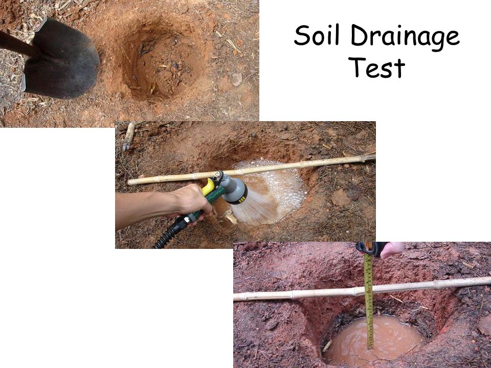Soil Drainage Test Soil Drainage Test