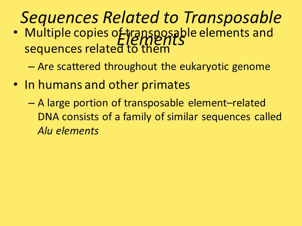 Sequences Related to Transposable Elements