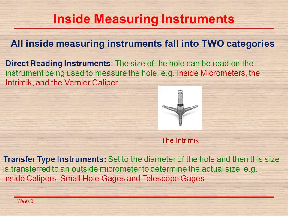 Inside Measuring Instruments