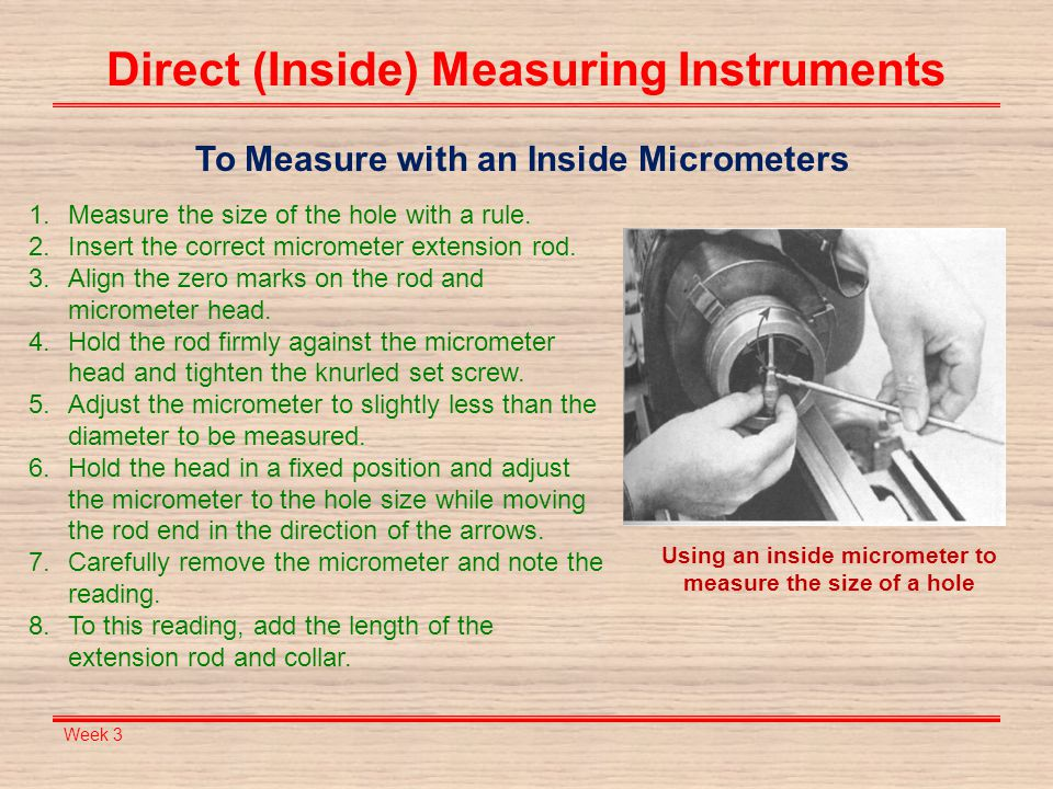 Direct (Inside) Measuring Instruments