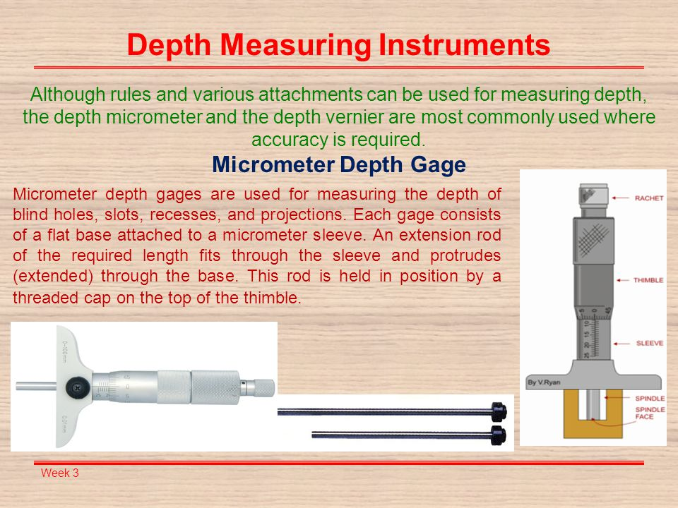 Depth Measuring Instruments