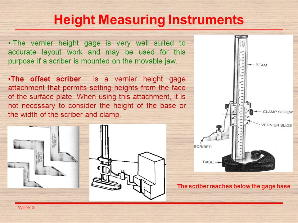Height Measuring Instruments