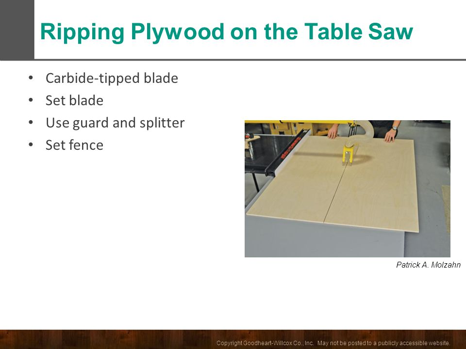 Ripping Plywood on the Table Saw