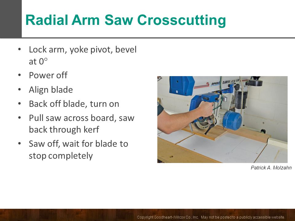 Radial Arm Saw Crosscutting