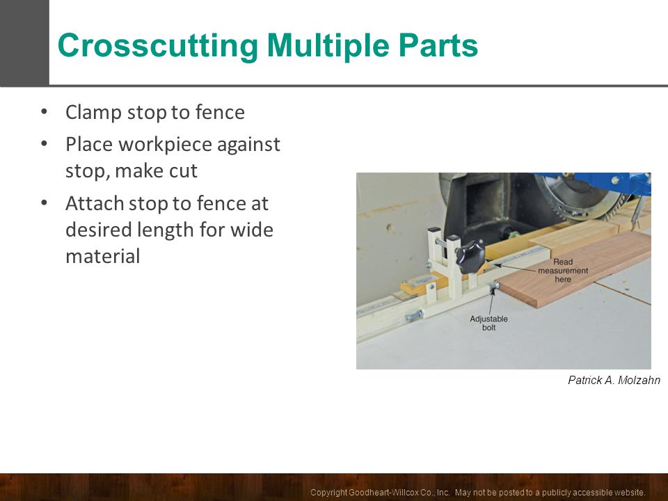 Crosscutting Multiple Parts