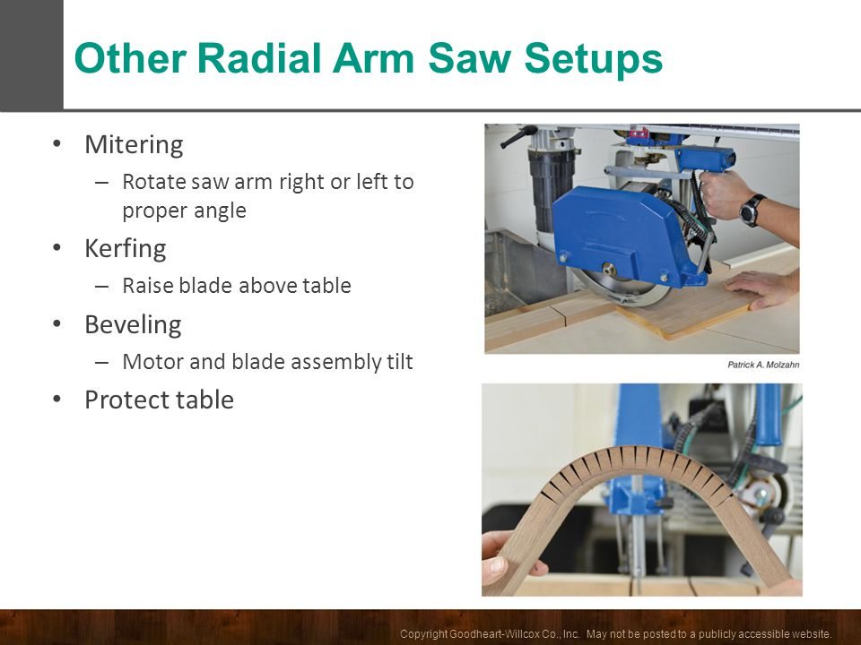 Other Radial Arm Saw Setups