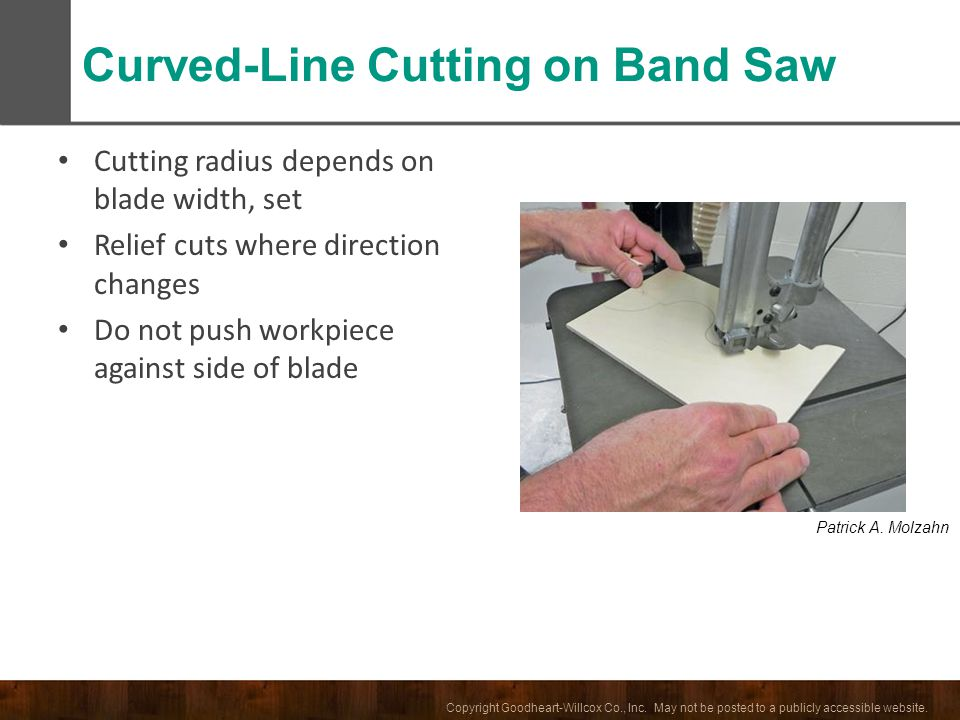 Curved-Line Cutting on Band Saw
