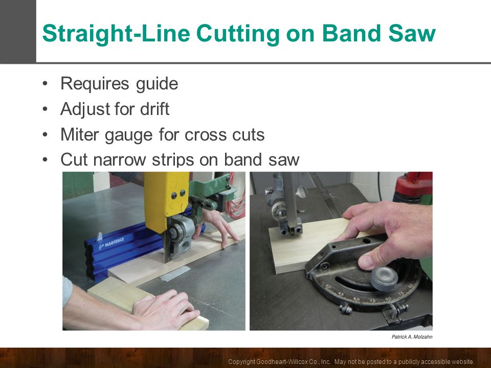 Straight-Line Cutting on Band Saw
