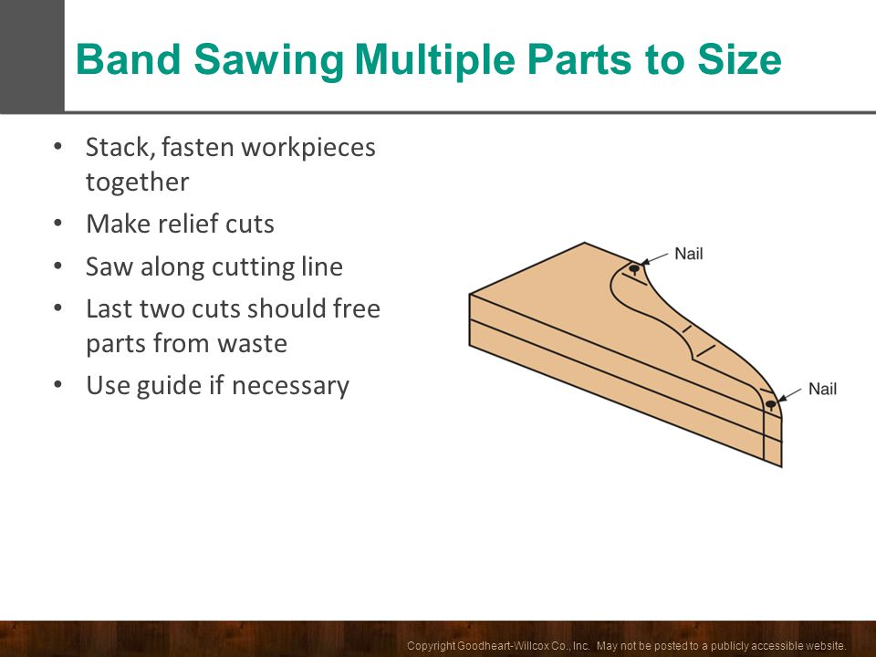 Band Sawing Multiple Parts to Size