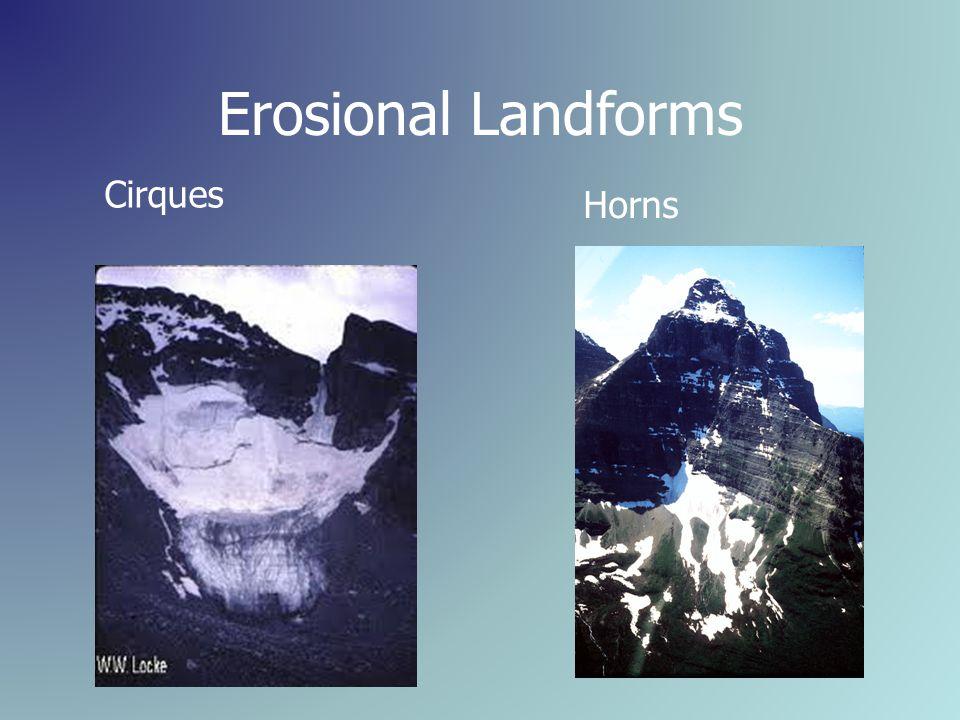 Erosional Landforms Cirques Horns