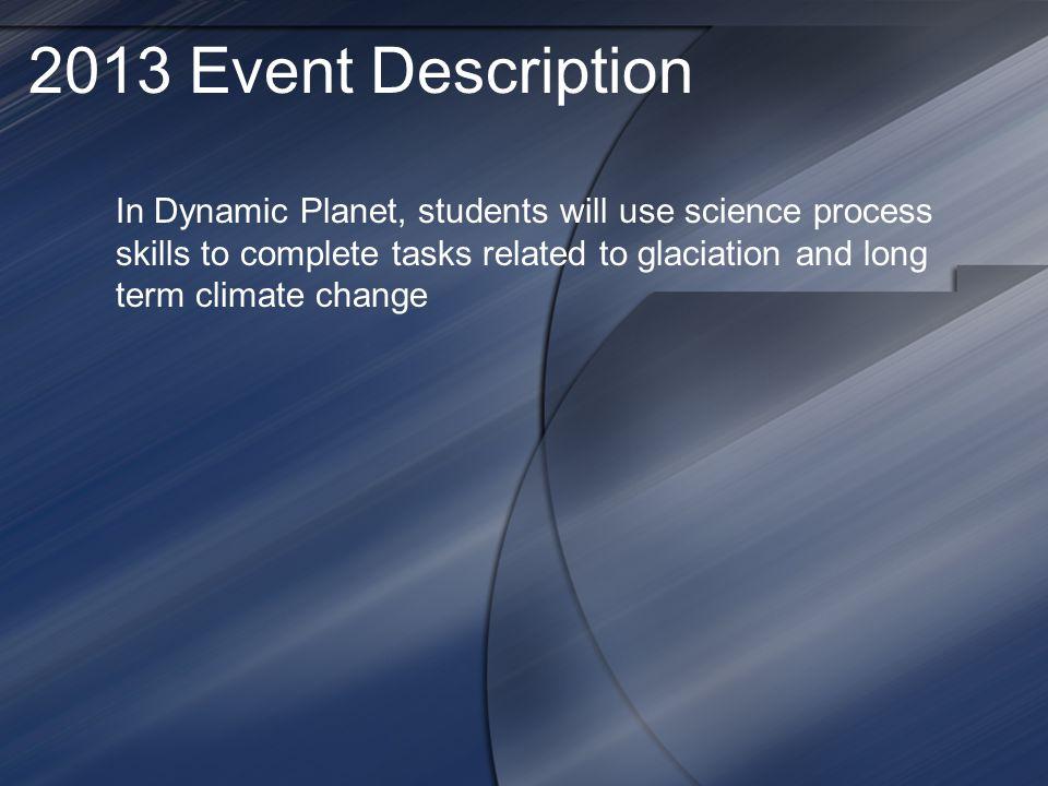 2013 Event Description
