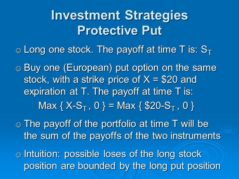 Investment Strategies Protective Put