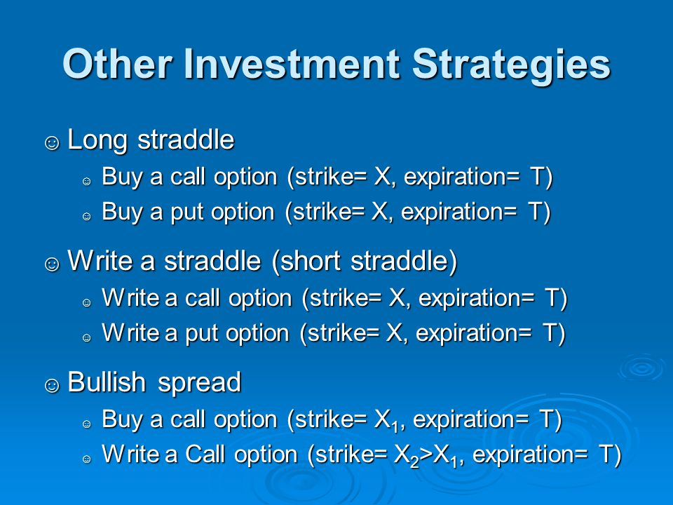Other Investment Strategies