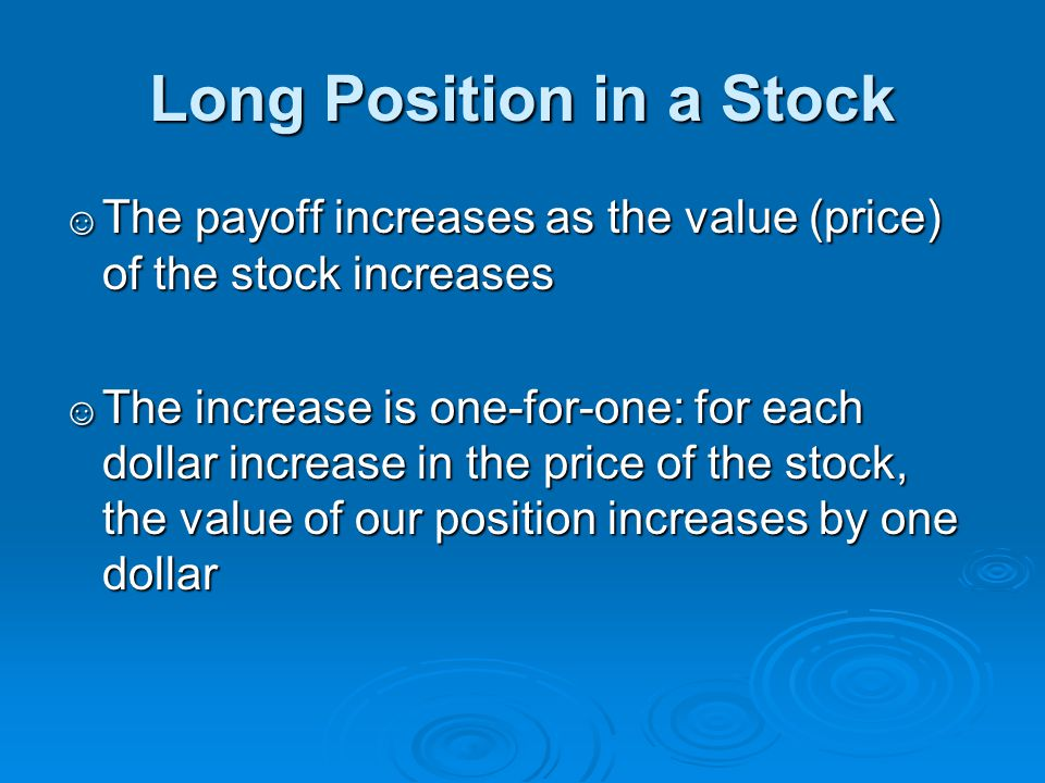 Long Position in a Stock