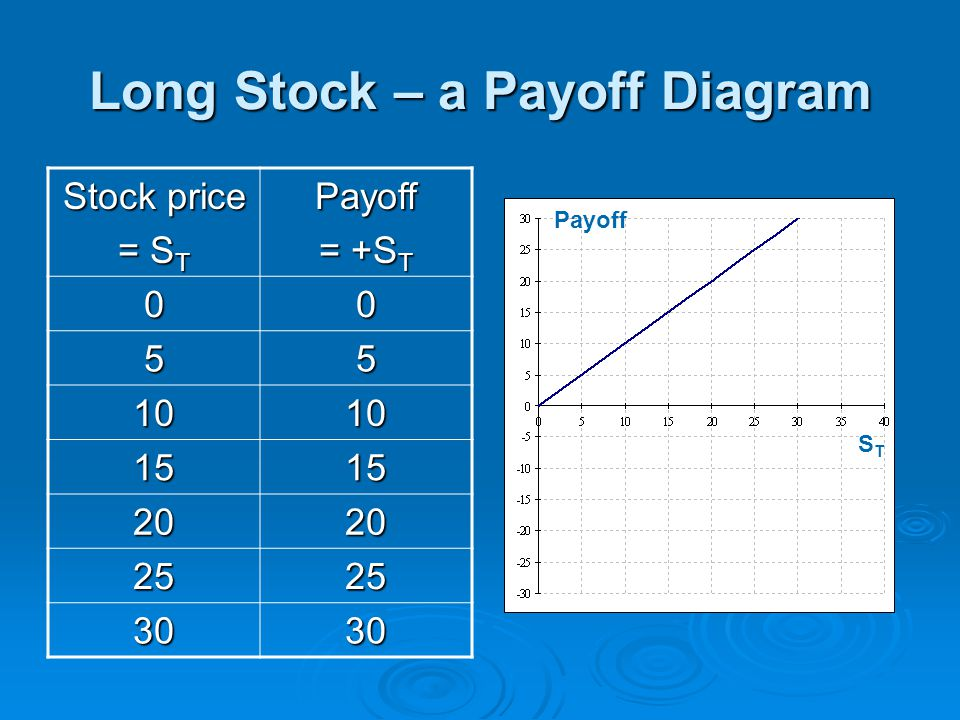 Long Stock – a Payoff Diagram