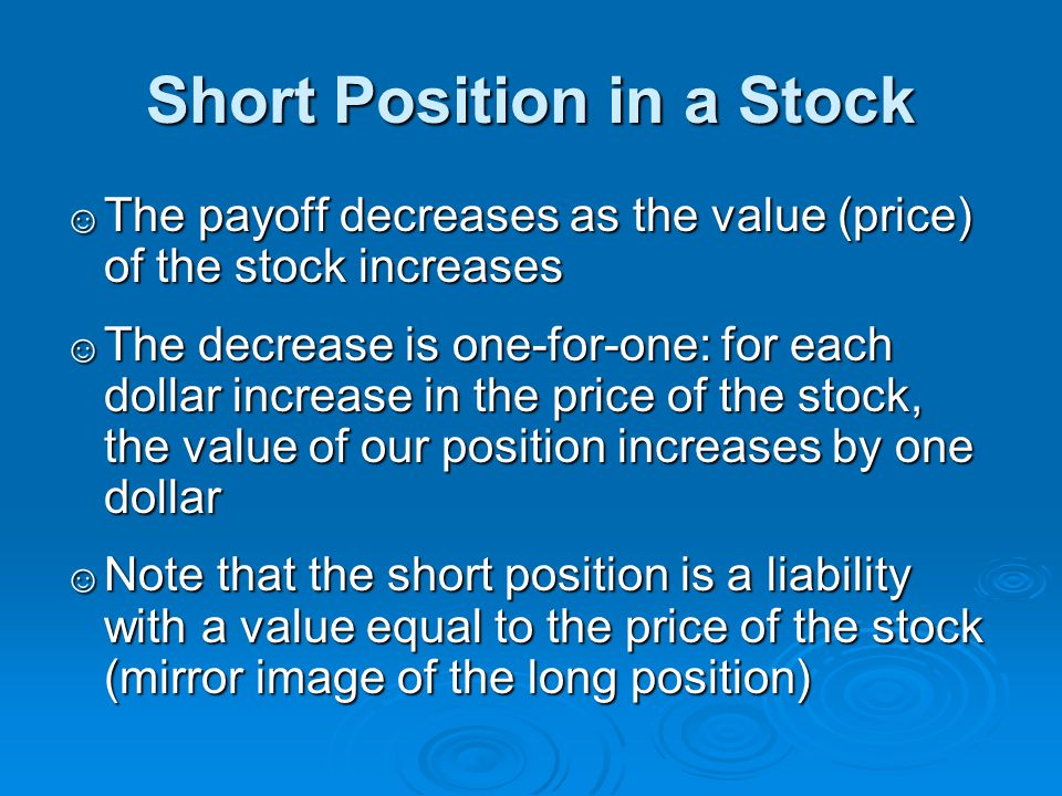 Short Position in a Stock