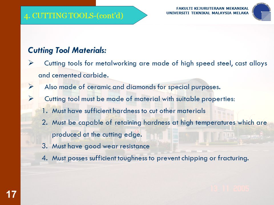Cutting Tool Materials: