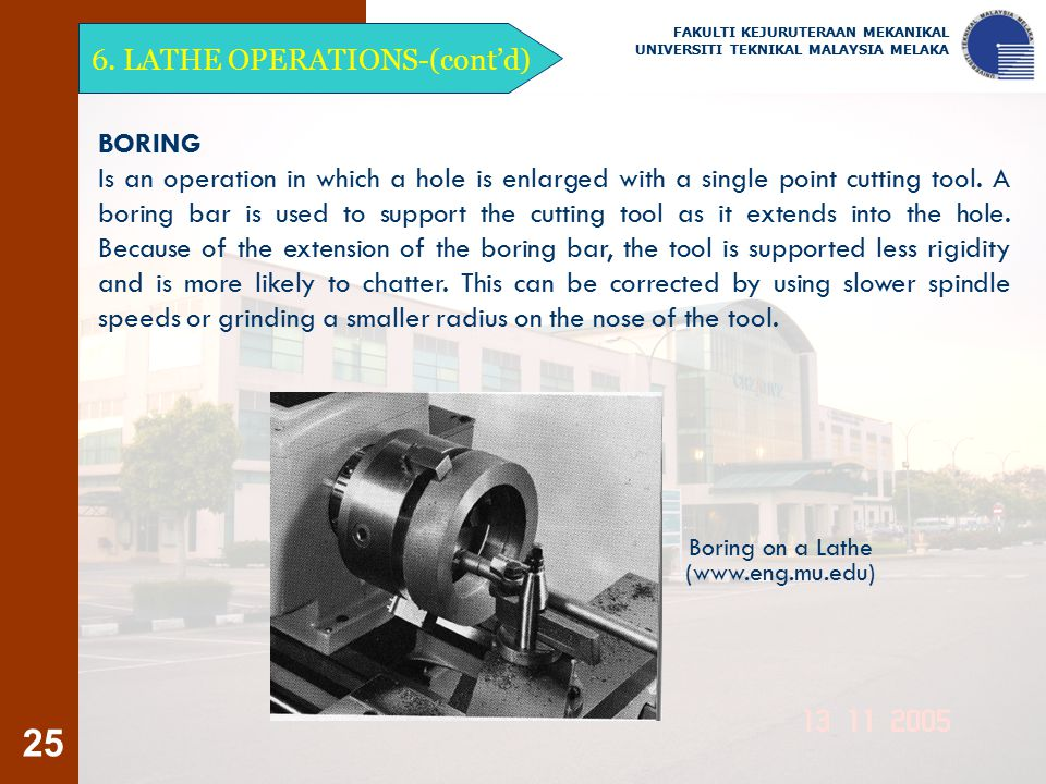 6. LATHE OPERATIONS-(cont'd)