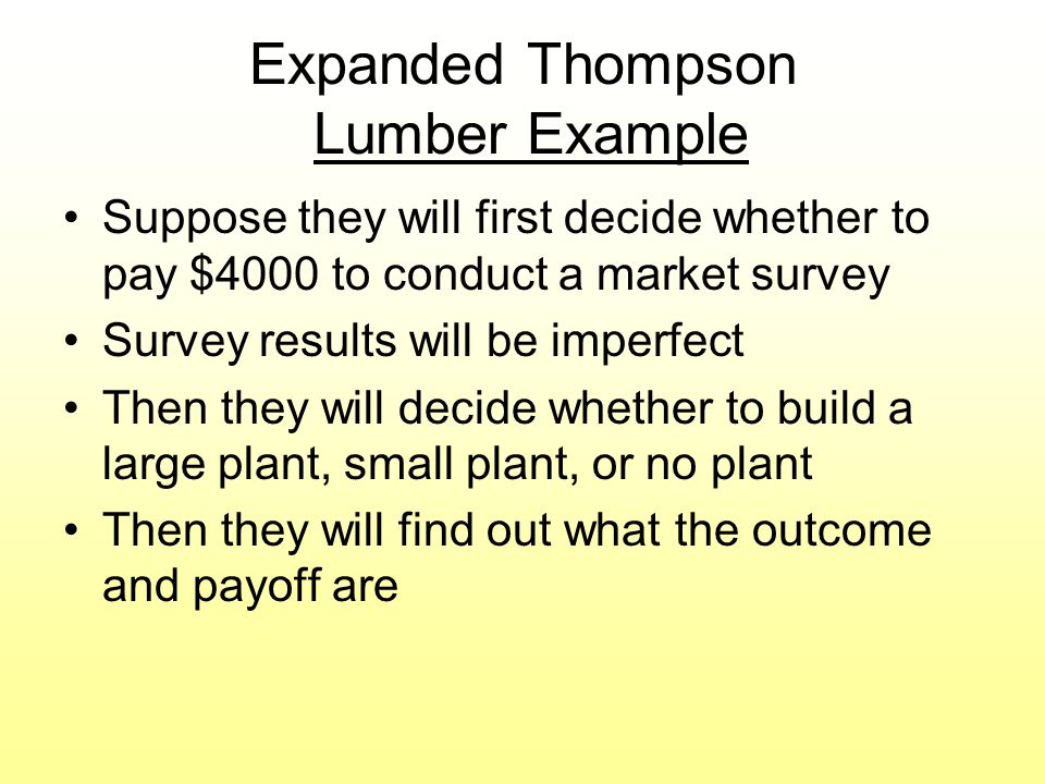 Expanded Thompson Lumber Example