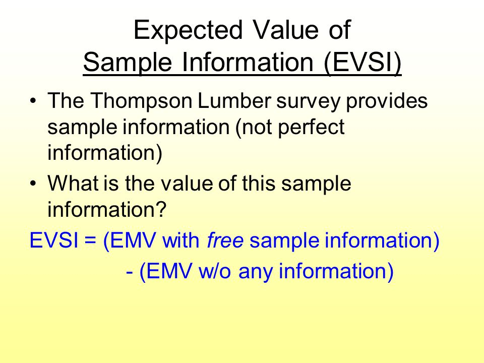 Expected Value of Sample Information (EVSI)