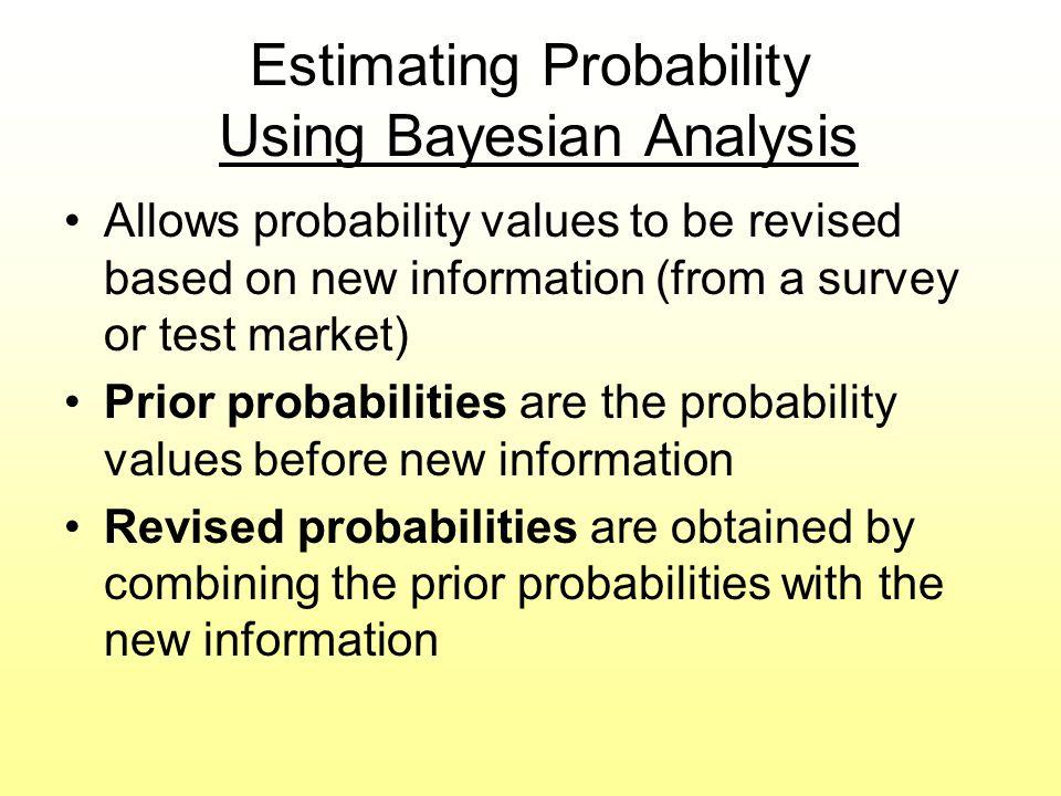 Estimating Probability Using Bayesian Analysis