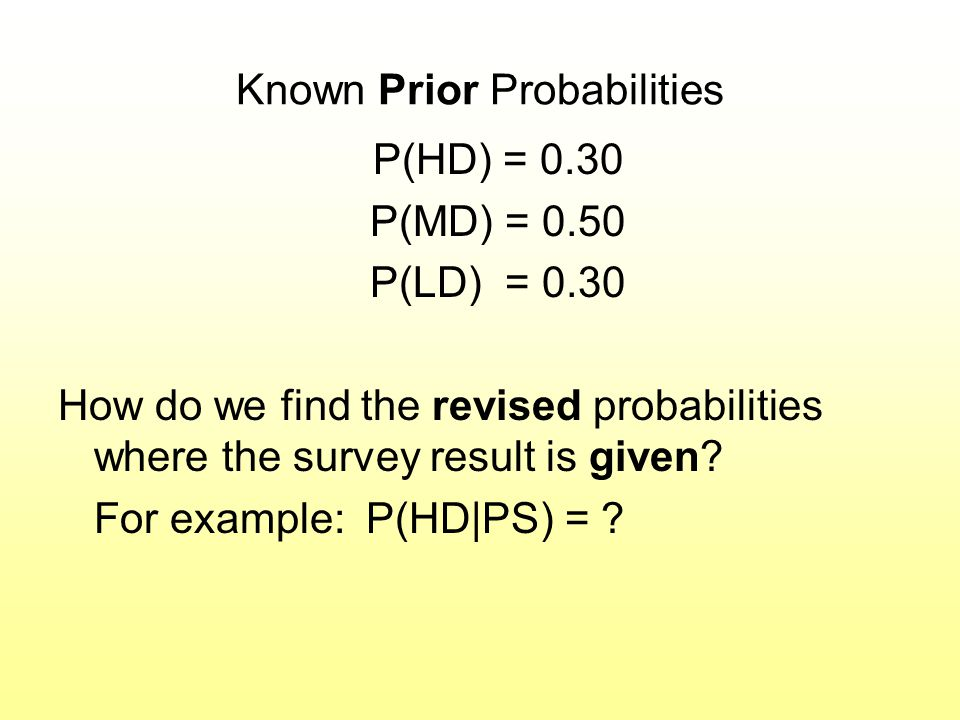 Known Prior Probabilities