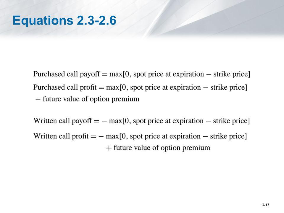 Equations 2.3-2.6