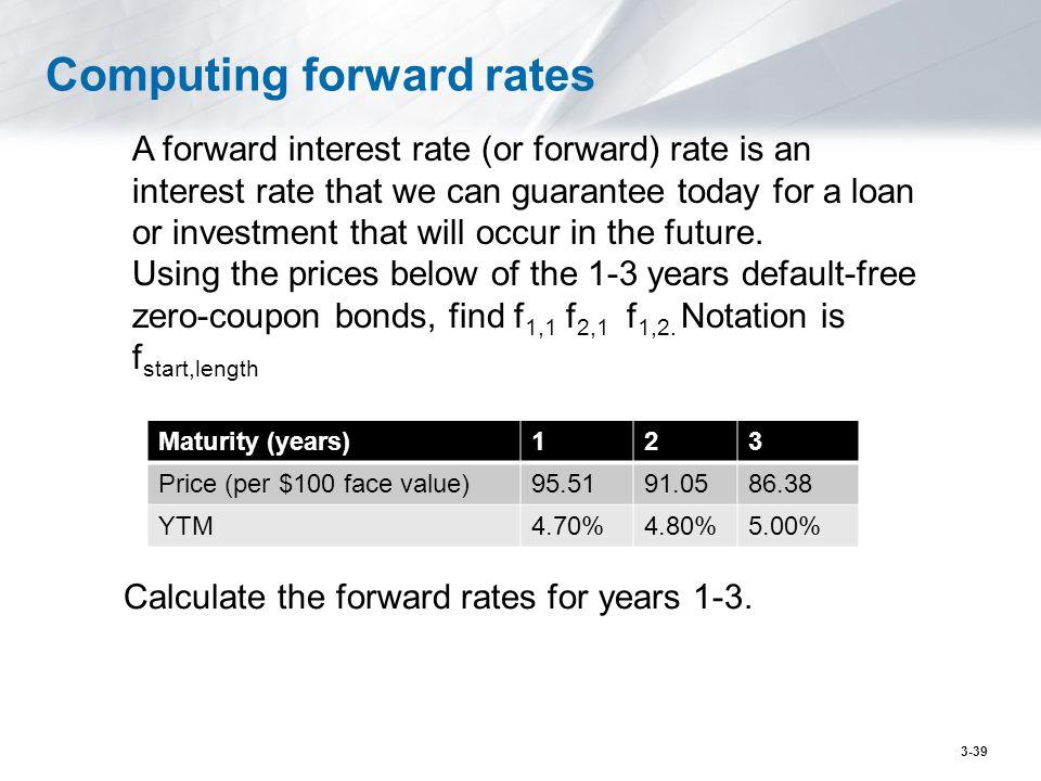 Computing forward rates